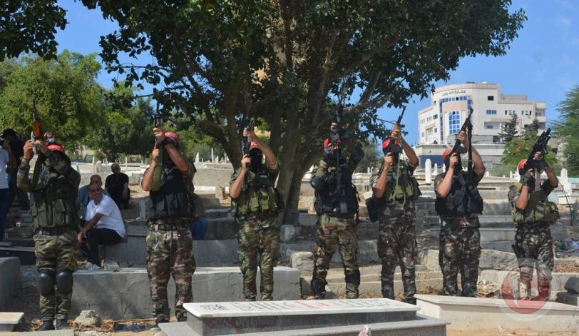تشييع جثمان القائد الوطني عبد الحميد أبو جياب في موكب جنائزي مُهيب بغزة