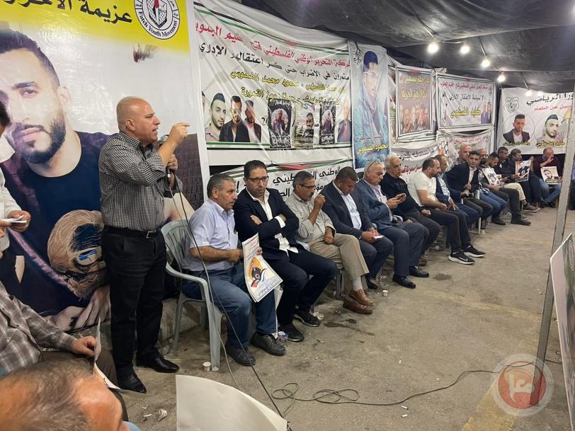 الخليل: مهرجان تضامني واسنادي للاسرى المضربين عن الطعام وعلى رأسهم الاسير الفسفوس