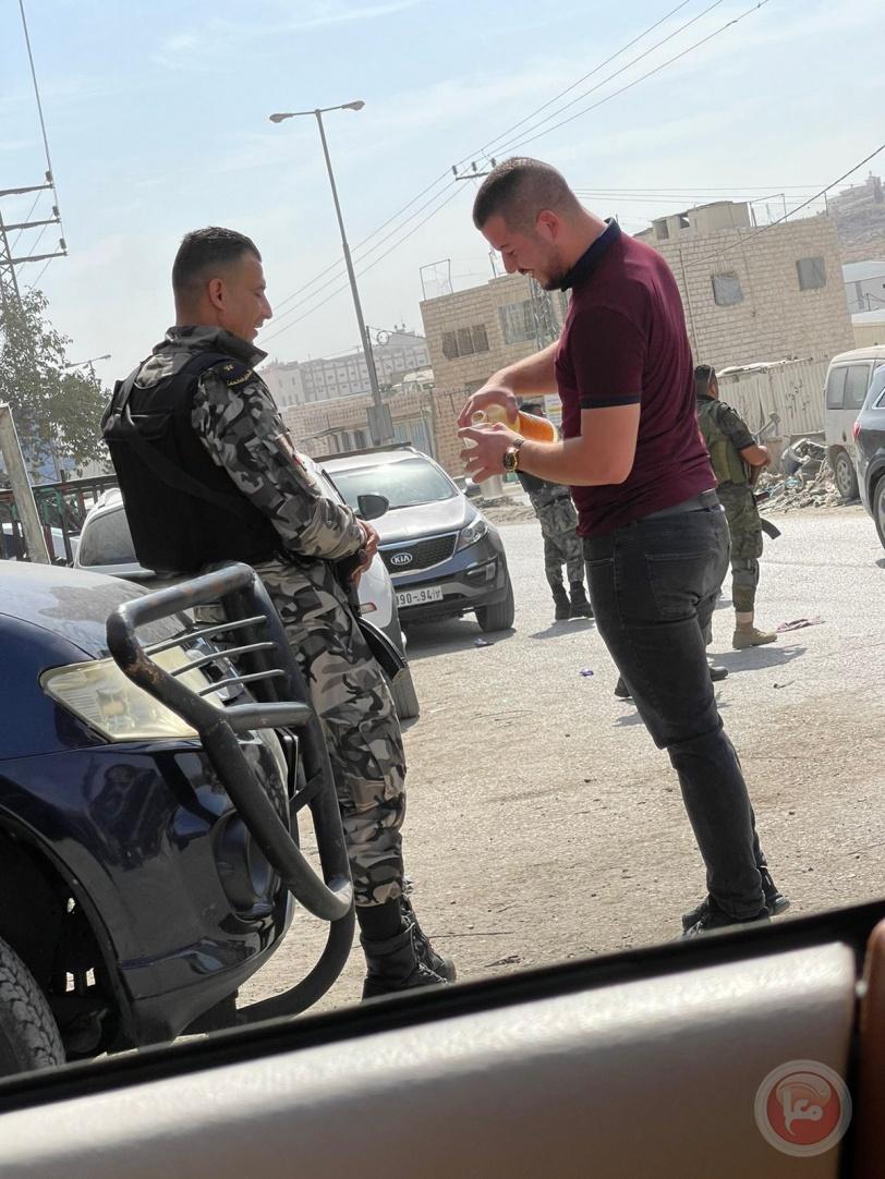 صور- قوات الأمن تنتشر في المنطقة الجنوبية من مدينة الخليل