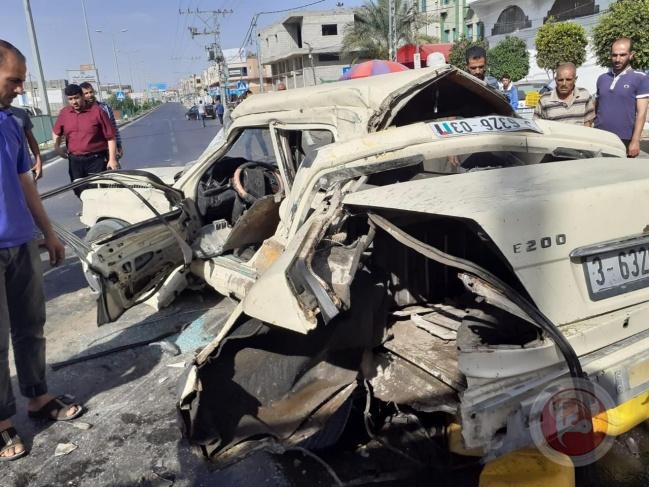 مصرع مواطن واصابة آخرين في حادثي سير منفصلين بغزة