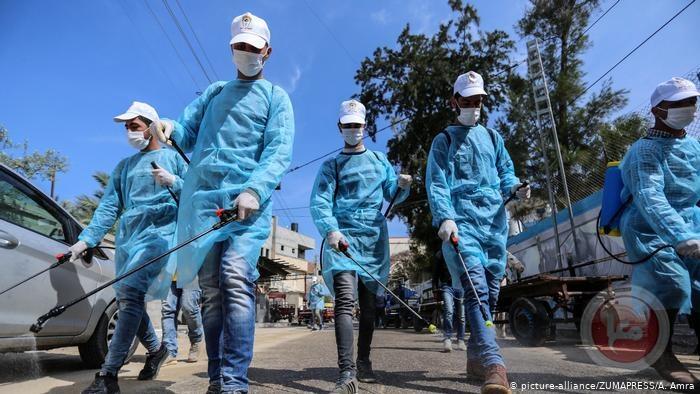 غزة: وفاة وتسجيل ٩٦ اصابة جديدة بكورونا