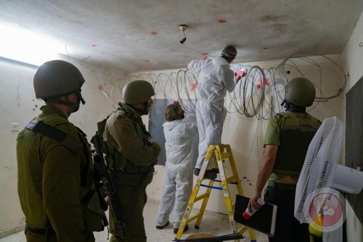 جيش الاحتلال يغلق غرفة الأسير أبو بكر في جنين