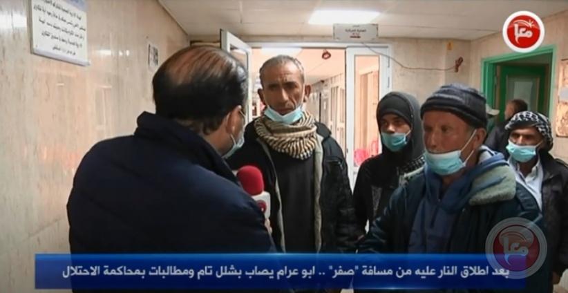 """بعد اطلاق النار عليه من مسافة """"صفر"""" .. ابو عرام يصاب بشلل تام ومطالبات بمحاكمة الاحتلال"""