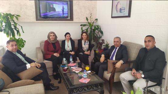 السفير المصري في زيارة للمركز الفلسطيني للبحوث والدراسات الاستراتيجية