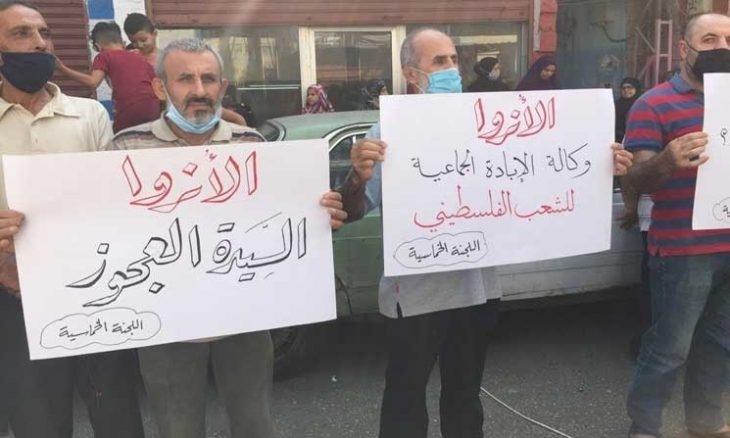 فلسطينيو لبنان يتظاهرون لتردي أوضاعهم المعيشية