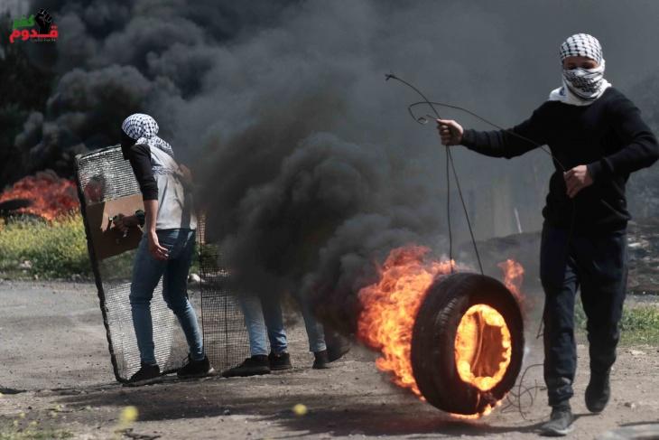 اصابات بالاختناق خلال قمع جيش الاحتلال لمسيرة كفر قدوم