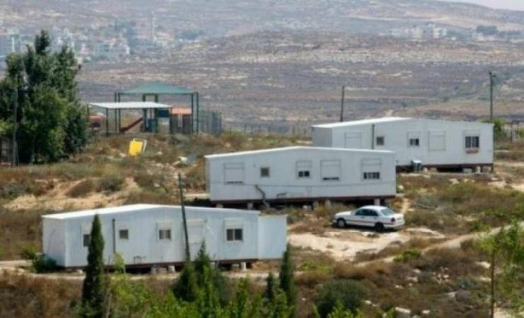 الاحتلال ينصب بيوتا متنقلة في اراضي عصيرة القبلية