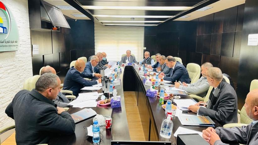 مجلس اتحاد الغرف الفلسطينية يناقش عدداً من القضايا