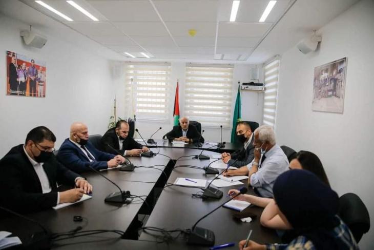 جبريل الرجوب يترأس اجتماعا لكادر الأمانة العامة لجمعية الكشافة الفلسطينية