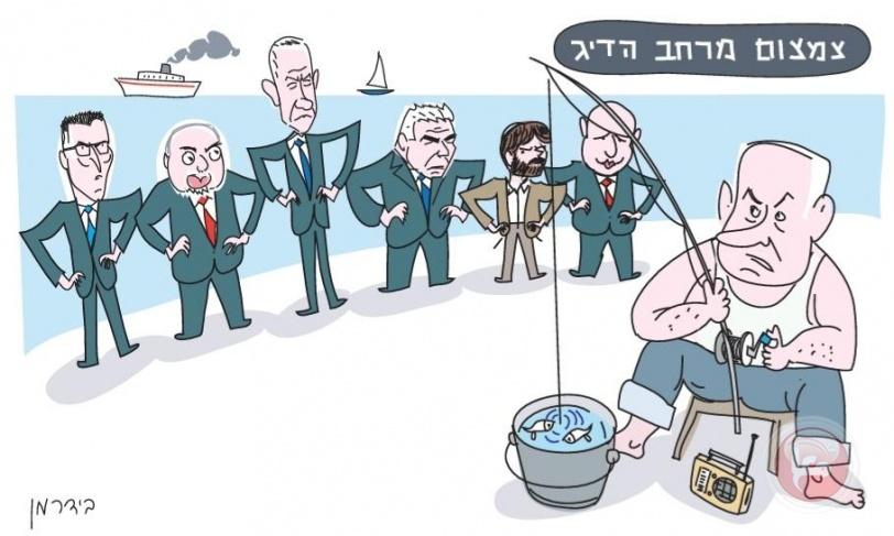 رسامو الكاريكاتير في إسرائيل يتفننون في وصف تفاهة السياسيين والأحزاب الصهيونية