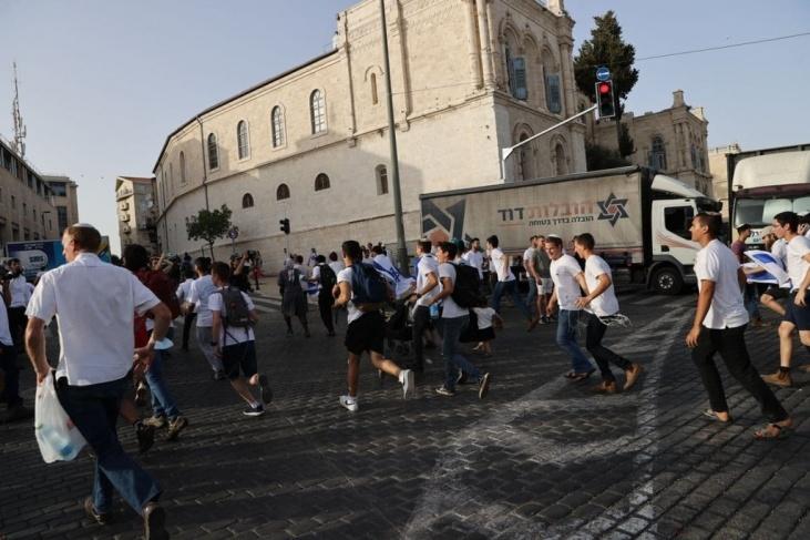 """إلغاء مسيرة """"رقص الأعلام"""" بسبب صواريخ المقاومة"""