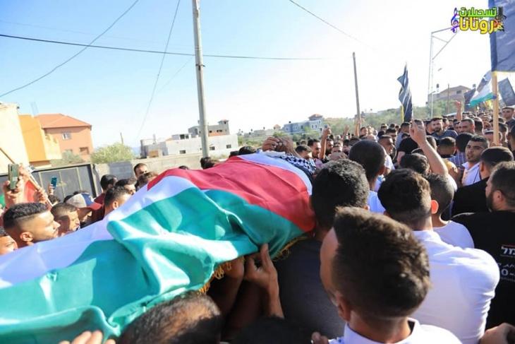 تشييع جثمان الشهيد يوسف نواصرة في قرية فحمة جنوب جنين