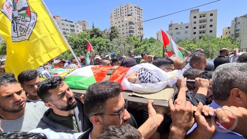الخليل تشيع جثمان الشهيد الفتى محمد فريجات
