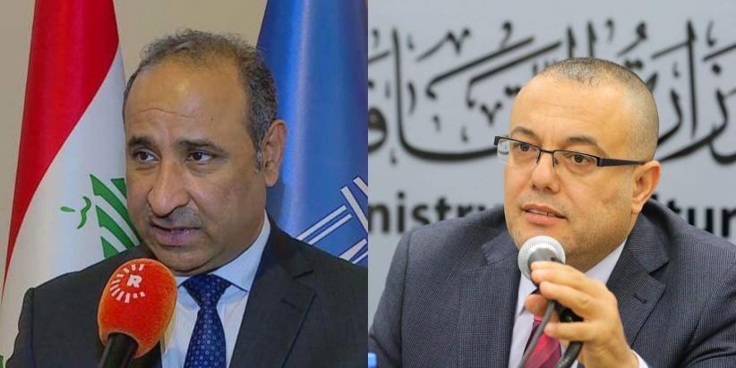 وزير الثقافة العراقي يندد بجرائم الاحتلال بحق شعبنا