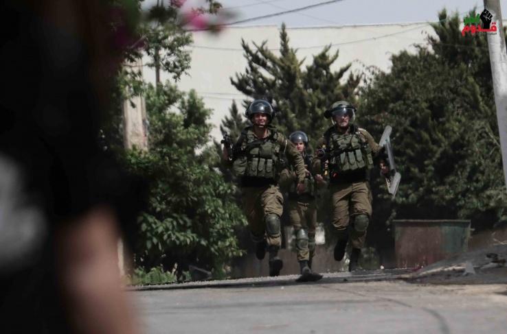 ٤ اصابات برصاص الاحتلال خلال قمع مسيرة كفر قدوم الاسبوعية