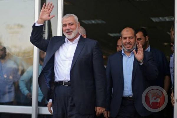 هنية يصل القاهرة على رأس وفد من حماس