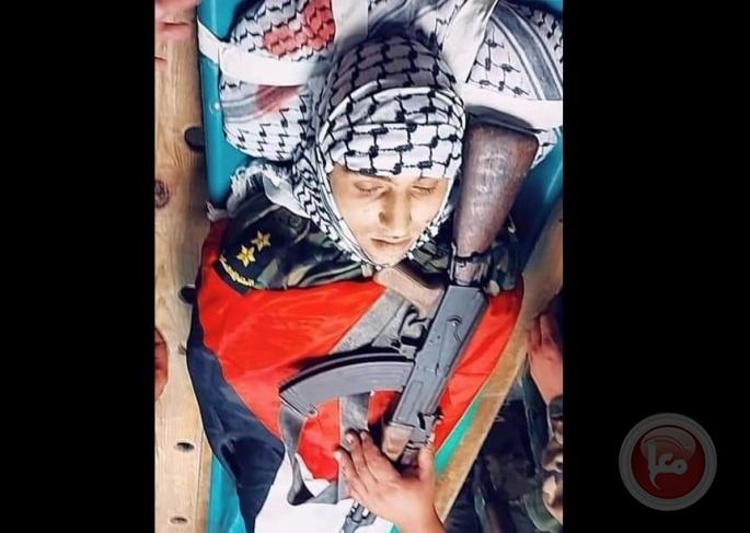 جنين تودع الشهيد ضابط الامن عثمان عيسة