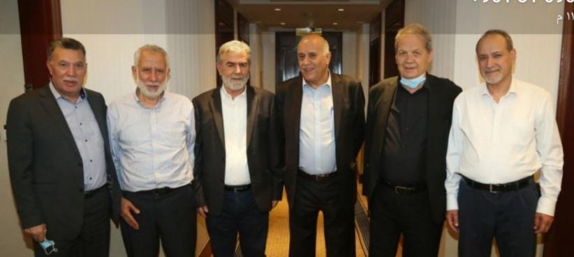 القاهرة:  النخالة يلتقي بوفد حركة فتح