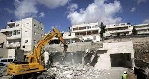 القدس- هدم مدرسة قيد الإنشاء في مخيم شعفاط
