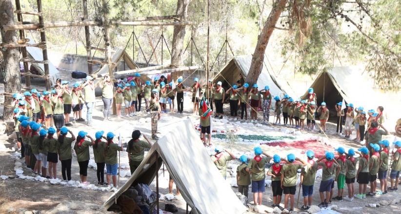 """مجموعة كشافة تراسنطة تُطلق مخيمها الكشفي """"حتماً سنبقى"""""""