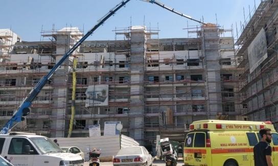 مصرع عامل بورشة بناء في اسرائيل