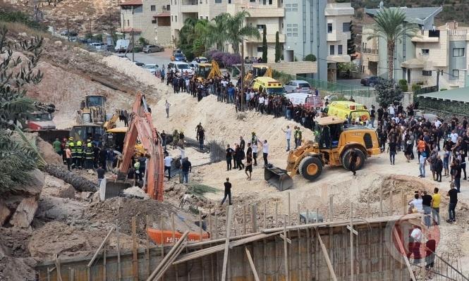 إصابة 10 عمال إثر انهيار جدار في كفر كنا