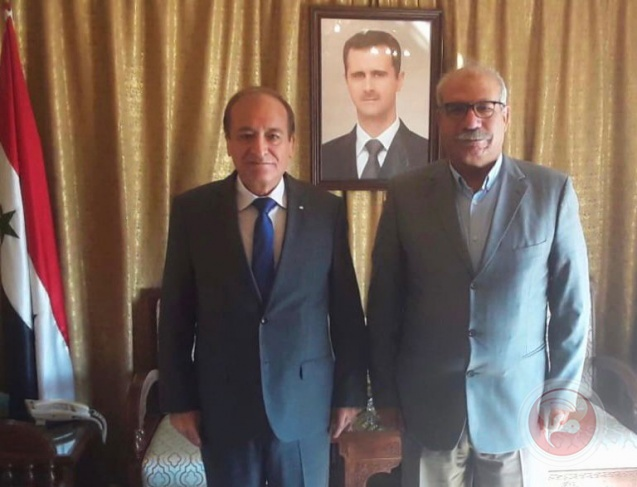 لقاء يجمع رئيس البعثة السورية لدى الأردن وعضو المجلس الوطني عمران الخطيب