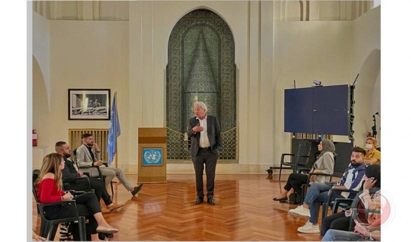 المبعوث الأممي لعملية السلام يلتقي وفداً شبابياً من مؤسسة اكت (ACT) لحل النزاعات