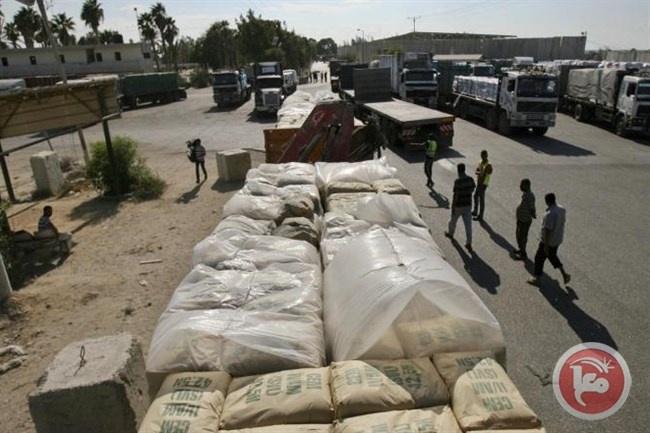 تحتاج مليون ونصف طن...هكذا يدخل الاسمنت المصري غزة
