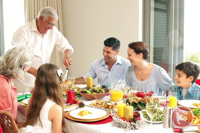 العشاء وسعادة الأطفال