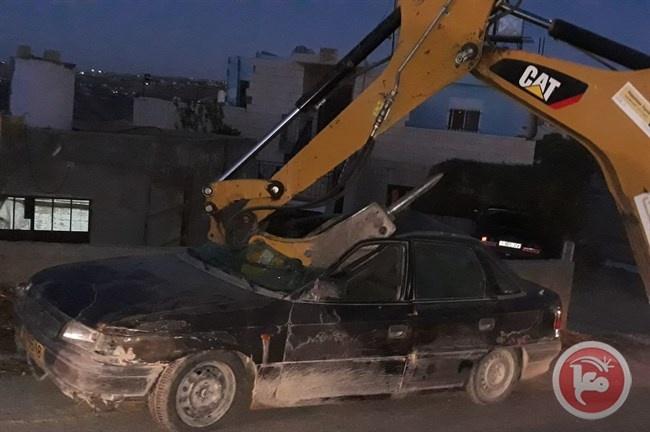 إتلاف 48 مركبة والقبض على 5 مطلوبين في بيت لحم