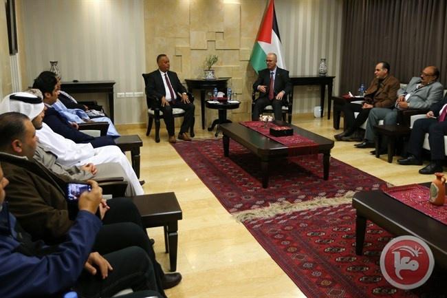الحمد الله يستقبل الوفود العربية المشاركة بمؤتمر نصرة القدس