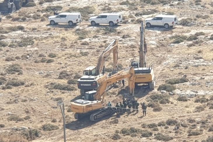 الاحتلال يهدم غرفة زراعية في ترقوميا غرب الخليل