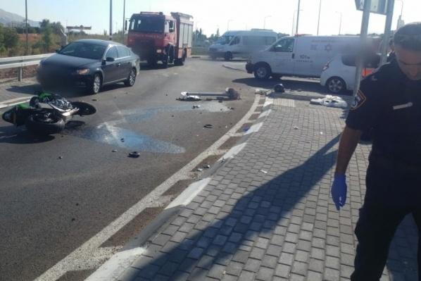مصرع سائق دراجة نارية بحادث قرب طبريا