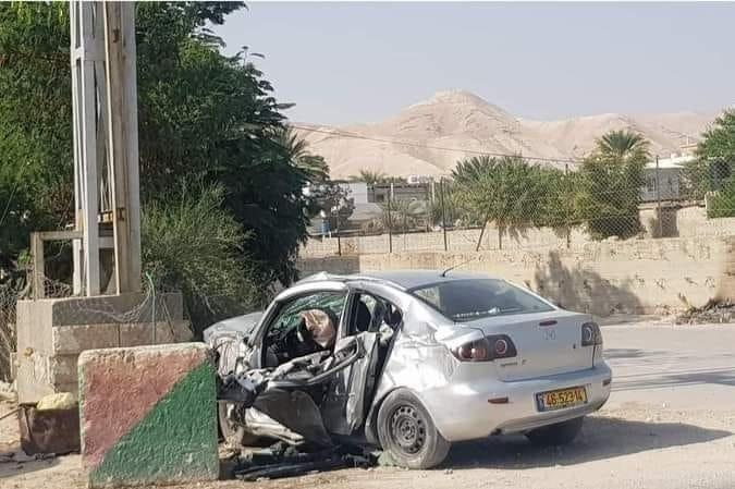 شاهد- مصرع شاب واصابة خطيرة بحادث سير ذاتي باريحا